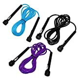 JLL Skipping Rope 3m/10ft ADJUSTABLE Fitness Speed Rope Jump Boxing Exercise Gym Jumping Workout