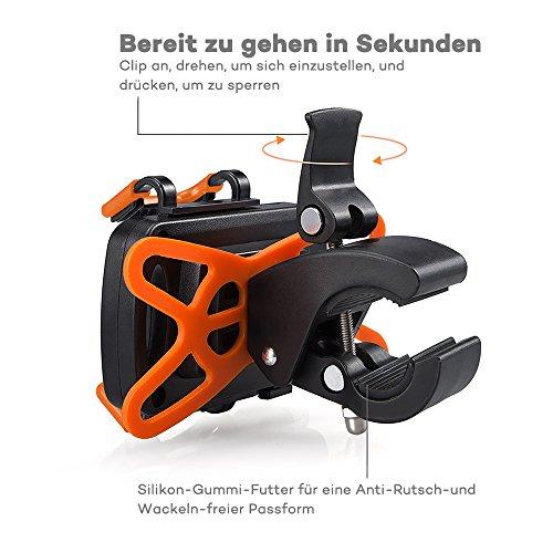 TaoTronics iPhone 6S/6S Plus 6/6Plus 5S/4S Samsung Galaxy S5/S4/S3 Handyhalterung Fahrrad - 3