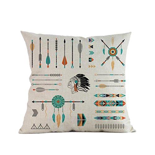 ubabamama geometrischen Mustern Pfeil drucken Sofa Bett Home Dekoration Vintage Retro Kissenbezug Festival 45,7x 45,7cm e
