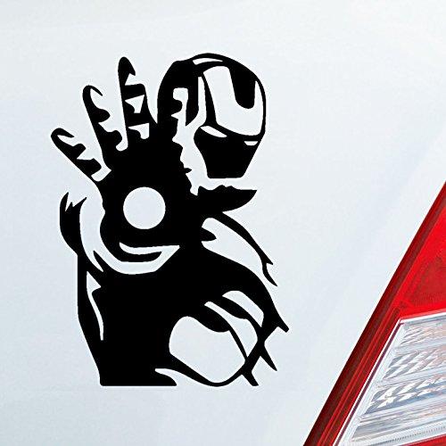 (Auto Aufkleber in deiner Wunschfarbe für Ironman Fans Comic Star Film 12x8,5 cm Autoaufkleber Sticker Folie)
