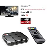Antsir R2 Android 7.1 Smart TV Box Amlogic S905W 2GB Ram 16GB ROM Super HD Media Player Wifi HDMI per l'intrattenimento domestico