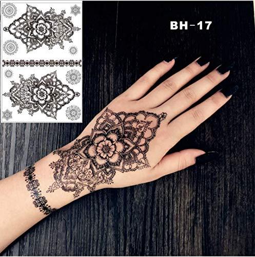 UPUPUPUP Handzeichnung Mandala Black Henna temporäre Tätowierung inspiriert Körper Aufkleber