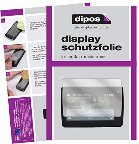 dipos I Schutzfolie kompatibel mit YI 4K Plus Displayschutz-Folie klar