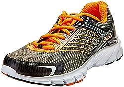 Fila Mens Maranello 2 Dark Silver, Black and Vibrant Orange Running Shoes - 7 UK/India (41 EU)