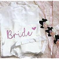 Morgenmantel Weiß Braut Brautjun