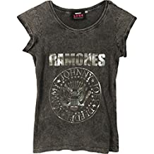 Ramones Damen T-Shirt Presidential Seal Acid Wash