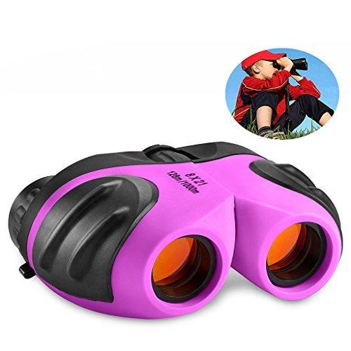 Spielzeug für 3-12 Jahre alte Mädchen, Compact Fernglas für Kinder Geschenke für Teen Girl Purple TG006