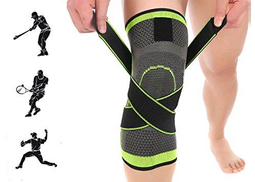 Kniebandage Sport, Love77 Knieschoner atmungsaktiver Knieschützer verstellbare für Damen und Herren