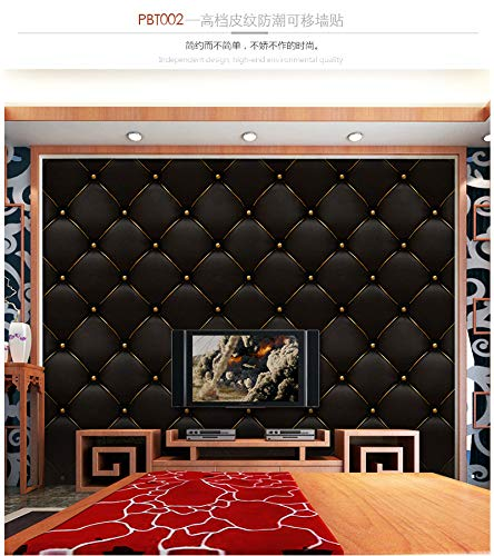KLMWDDBT Fliesenaufkleber Moderne Minimalistische Wohnzimmer Tv-hintergrund Tapete Selbstklebende Pvc-simulation Leder Weichbeutel Soft-beutel...
