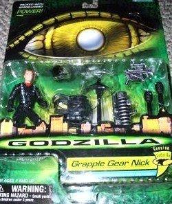 Godzilla - 08563 - 1998 Genuine Godzilla - Grapple Gear Nick - Action Figur - ca. 10 cm - mit Action-Rucksack und Waffen - OVP
