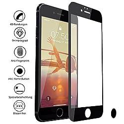 CELLBEE Panzerglas Kompatibel Mit iPhone 7/8 Plus Panzerglasfolie, Curved inkl. Applikator, Panzerfolie Staubfrei Sensor, Home Button, Premium Displayschutzfolie, Full Cover 4D Schutzfolie, Schwarz