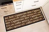 Andiamo 1100335 Küchenläufer Coffee Cups Küchenteppich Tassen Kaffee Oeko Tex, 67 x 180 cm, braun - 8