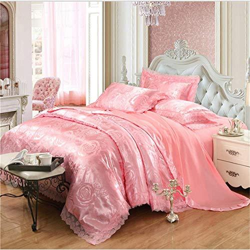 Jacquard-king Supreme (SHJIA Bettwäsche-Sets Jacquard Königin King Size Bettbezug Set Hochzeitsbettwäsche Bettwäsche Bettbezug A 180x220cm)