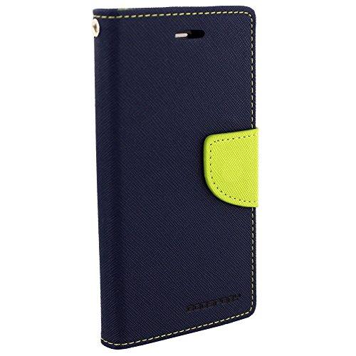 Cubezap Mercury Goospery Fancy Diary Wallet Flip Case Back Cover for Xiaomi Xiomi Redmi 1s Redmi1s - Green Blue