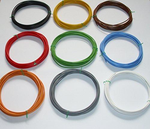 9 x 5m (€ 0,54/m) 1,5mm² Kfz Kabel Set Litze Flry (w. Längen Siehe Beschreibung)