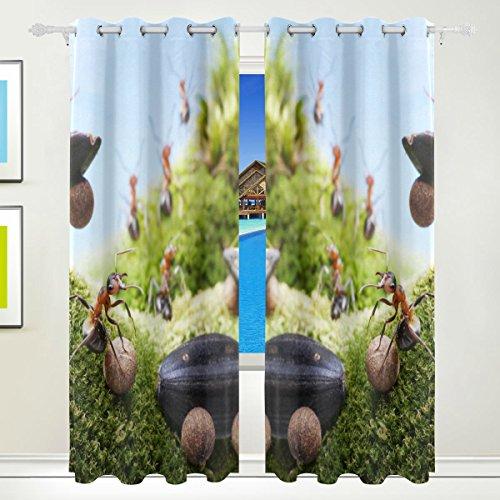 XiangHeFu Schöne Einrichtung Verdunklungsvorhänge mit Tülle Top Auto Crash bei Ameisen Rennen Tales Vorhänge Set von 2Platten, je 55W x 84L Zoll für Home Wohnzimmer Schlafzimmer Büro - Rennen-auto-vorhänge