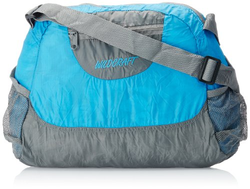 Wildcraft Women's Pac n Go Nylon 16 Ltrs Blue and Grey Packable Messenger Bags (8903338012498)  available at amazon for Rs.639