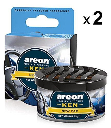 Areon Ken Ambientador de Coche Nuevo New Car Olor Aroma Azul Lata Debajo Asiento Hogar Aire Casa Perfume 3D ( Pack de 2 )