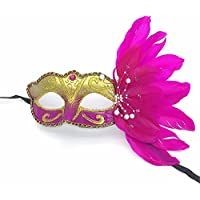 PromMask Mascara Facial Careta Protector de Cara dominó Frente Falso Maquillaje de Pasarela Danza máscara Carnaval