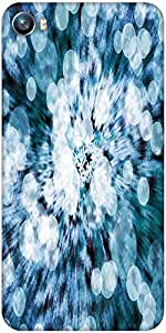 Snoogg blue flower abstract background Designer Protective Back Case Cover For Micromax Canvas Fire 4 A107