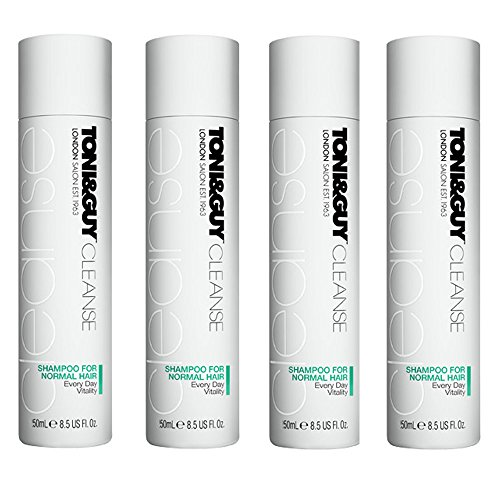 Toni & Guy Cleanse: Shampoo For Normal Hair 50 ml (Pack of 4)