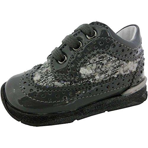 Falcotto scarpe bimba unisex 1097 - Sneaker Falcotto by Naturino Carson Lacca/Tess-IR, Antracite-Grigio (23)
