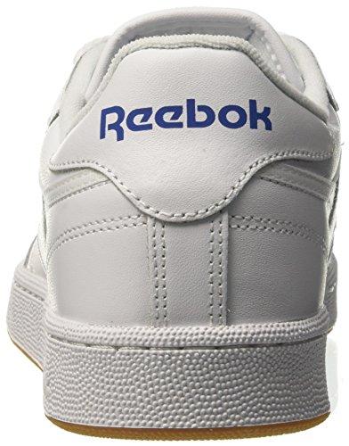 Reebok Club C 85, Zapatillas Bajas Atléticas Para Hombre, Blancas (int / White / Royal / Gum)