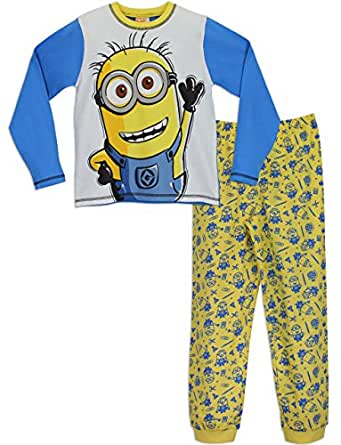 minions despicable me ensemble de pyjamas gar on 6 7. Black Bedroom Furniture Sets. Home Design Ideas