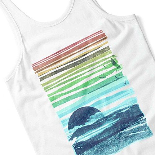 Sea Landscape Men's Vest White