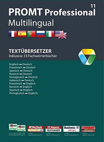 PROMT Professional 11 Multilingual: Preisgekröntes Übersetzungsprogramm Deutsch, Englisch, Französisch, Spanisch, Russisch, Italienisch und ... Glossar-Import, Microsoft® Office Integration