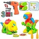 Dinosauro Kit Smontabile Giocattolo per Bambini con Trapano Giocattoli Creativi Giochi Bambini 3 4 5 Anni