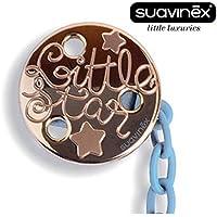 "'Suavinex ""Haute Couture nº 302291–1x Chupete Cadenas, cinta para chupete clip Holder/azul (Talla Única)"