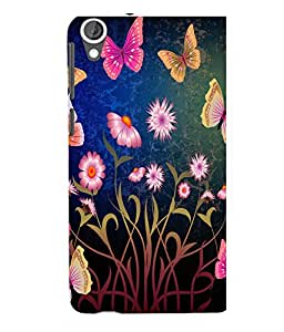 printtech Flower Butterfly Back Case Cover for HTC Desire 820::HTC Desire 820Q::HTC Desire 820S