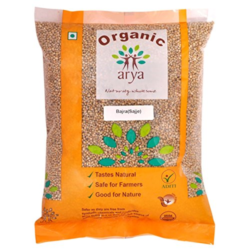 Arya Farm Organic Bajra Whole, Pearl Millet (2kgs)