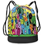 This Drawstring Bag Will Make Your Life More Convenient And Different. Unique Pattern Printed, Made With High-grade Durable Lightweight Material Polyester. One Bag And Drawstring Design Makes You Store Things Quickly And Take Them Out Easily. Conveni...