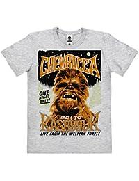 Star Wars - Wookie - Chewbacca - Back To Kashyyyk T-Shirt 100 % coton organique (agriculture biologique) - gris chiné - design original sous licence - LOGOSHIRT