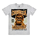 Star Wars - Wookiee - Chewbacca - Back To Kashyyyk T-Shirt Organic Herren - Bio Baumwolle - organic cotton - grau-meliert - Lizenziertes Originaldesign - LOGOSHIRT, Größe L