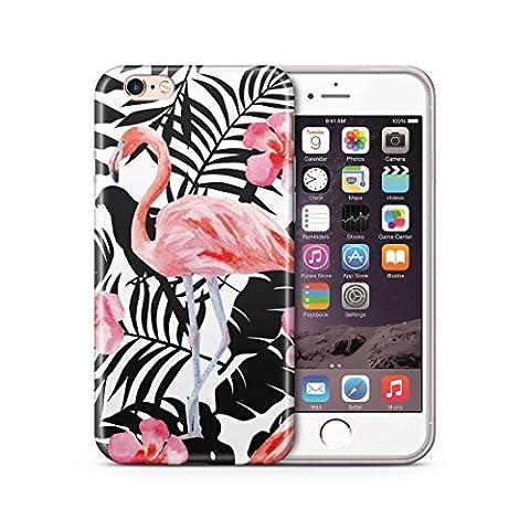 iPhone 6 6S Hülle, Cujas Weiche TPU Silikon Schutzhülle Blickdicht mit IMD Technologie Case Schutz Handyhülle (iPhone 6 / 6S Flamingo)