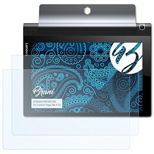 Bruni Schutzfolie kompatibel mit Lenovo Yoga Tab 3 10 Folie, glasklare Bildschirmschutzfolie (2X)