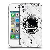 Head Case Designs Offizielle NBA Marmor Weiss 2018/19 Golden State Warriors Soft Gel Hülle für iPhone 4 / iPhone 4S