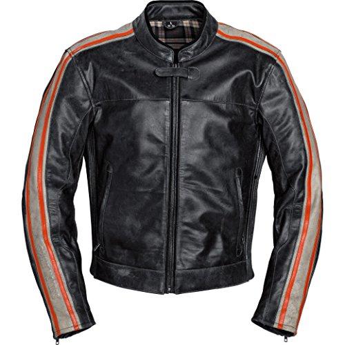 Motorradjacke Spirit Motors Retro-Style Lederjacke 2.0 Orange