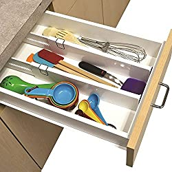 Ideaworks S2 Snap Fit Drawer Dividers, White