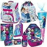 Frozen EISKÖNIGIN 9 Teile Set Schulranzen RANZEN FEDERMAPPE TORNISTER Tasche mit Sticker von kids4shop Federmappe Schultüte 85 cm