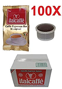 Buy 100 Italcaffe Espresso Bar Coffee Pods Capsules, Lavazza Espresso Point Compatible from Italcaffè