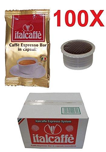 Buy 100 Italcaffe Espresso Bar Coffee Pods Capsules, Lavazza Espresso Point Compatible from Italcaffè
