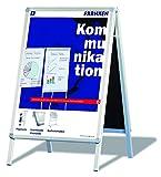 Franken BSA1 Kundenstopper Standard A1 (Informationstafel mit Schnellwechselrahmen) silber