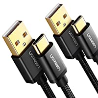 UGREEN USB C Cable to USB A Fast Charging Cable Nylon Braided Type C Charger Cord Compatible for iPad Pro 2018 Samsung S9 S8 Note 9-3Meter