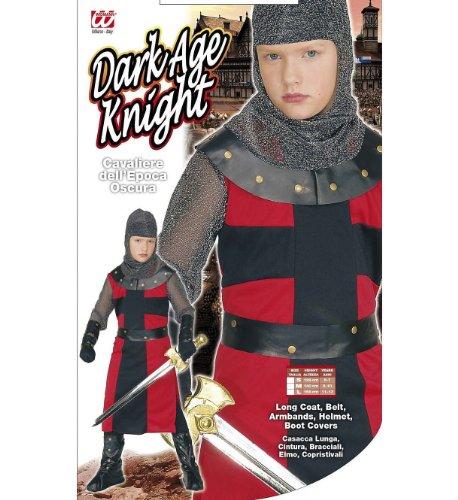 Widmann 55487 – Kinderkostüm schwarzer Ritter, Langes Gewand, Gürtel, Armbänder, Helm und Überstiefel - 2