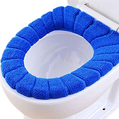 Li_unmio Rondella WC Multifunzione Sedile del Water Pratico Cuscino del Sedile del Water Pin di Blocco (Blu)