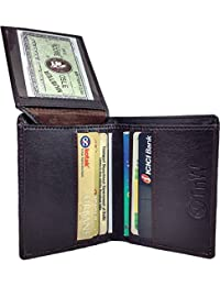 TnW Men's Artificial Leather Wallet Cum Card Holder(Brown)